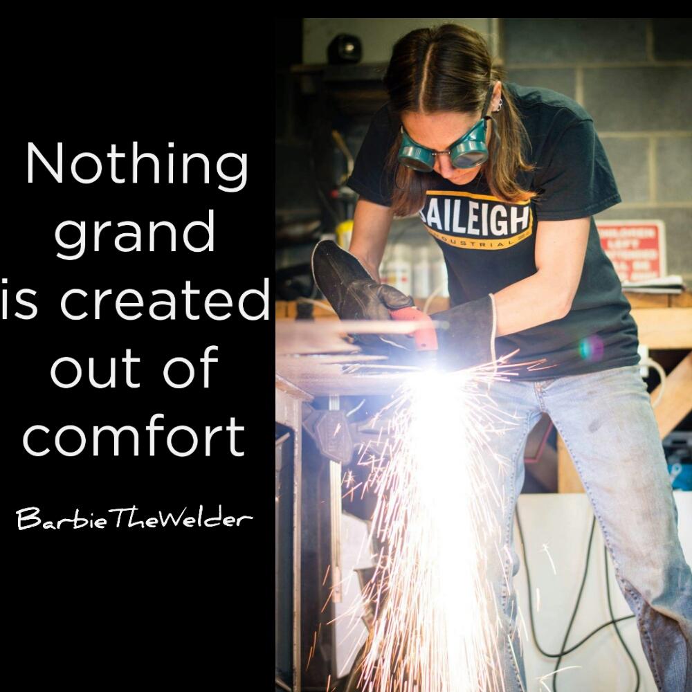 welding meme welder barbiethewelder push your art artist